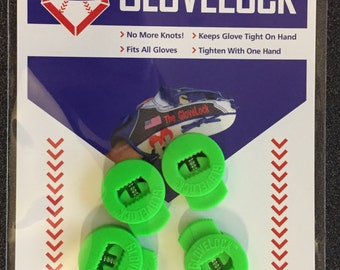 GLOVE LACE LOCKS for Softball or Baseball Gloves they keep Glove Laces Tight no more knots coming undone