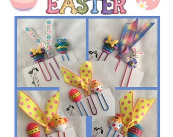 ON SALE, Easter Clips, Bunnies, Chicks and Minni Mouse, Paper Clips