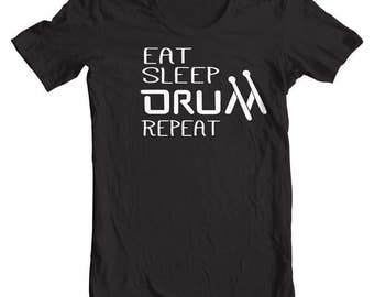 Drummer Gifts Eat Sleep Drum Repeat Shirt Drummer tshirt