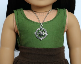 Compass Necklace - 18 Inch Doll Clothes // Jewelry