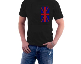 Alternative Union Jack T-shirt / Union Flag / British Flag, Ragged. Cotton Tee.