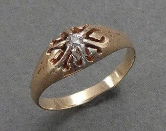 14K c1880 Diamond ring size 6