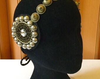 Headpiece / tribal fusion / bellydance / played / head headband / boho chic / accessory head / ethnic / tribal