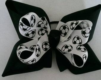 Soccer Hair Bow (1 each).