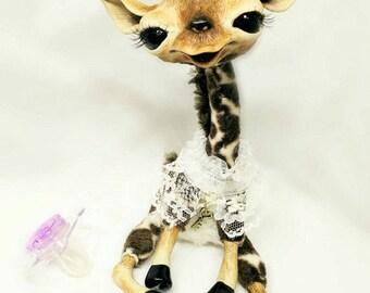 OOAK Baby Animal Art Doll