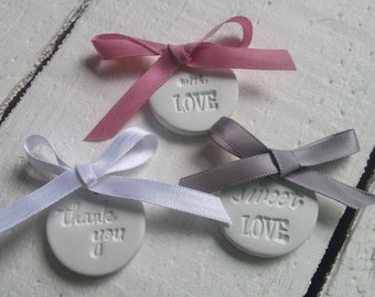 Wedding Favour Clay Tags