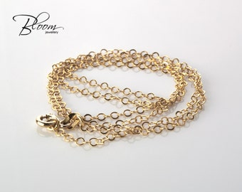 Gold Chain 14K Gold Chain Solid Gold Chain Gold Necklace Chain Delicate Gold Chain Delicate Necklace Thin Gold Chain Necklace