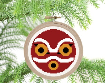 Mononoke Mask - PDF Cross Stitch Pattern