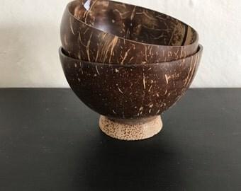 On Sale, Coconut Bowls, SET decorative bowls, nut bowls, candy bowls, minimalist, mid century decor