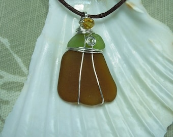 Cornish seaglass pendant