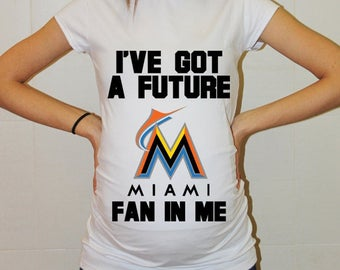 Miami Marlins Baby Miami Marlins Shirt Women Maternity Shirt Funny Baseball Pregnancy Pregnancy Shirts Pregnancy Clothing
