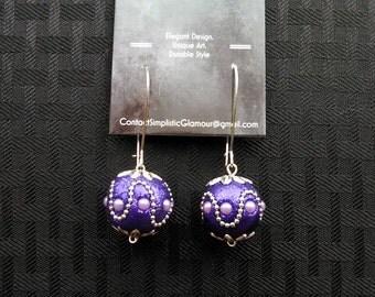 Purple Accent Dangle Earrings