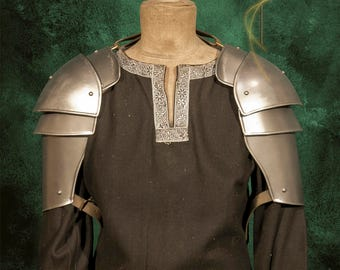 Metal Armor for LARP militia armor for men-shoulders-light, handmade