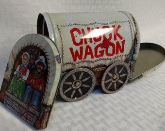 4 Rustic Tin Kitchen Canister Set Country Western Chuck Wagon