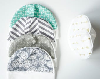 Baby Hat, handmade baby hat, newborn hat, soft cotton baby hat, 0-3mth hat, 100% Cotton, ivory hat, Unique Baby Shower Gift