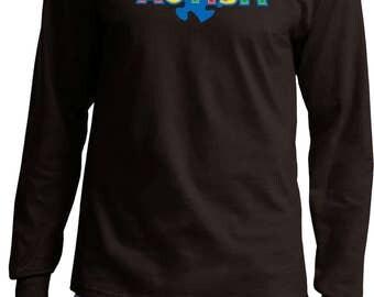 Men's Autism Accept Understand Love Long Sleeve Tee T-Shirt XIT-13562-PC61LS