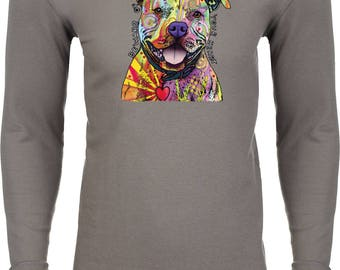 Men's Beware of Pit Bulls They Will Steal Your Heart Thermal Shirt 20149NBT2-N8201