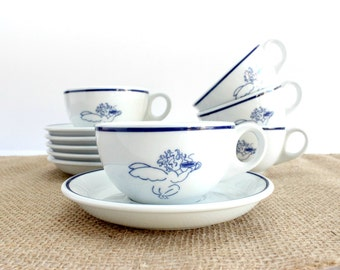 Starbucks Cups & Saucers, Designed by Rosanna Imports exclusively for Starbucks in 1994.