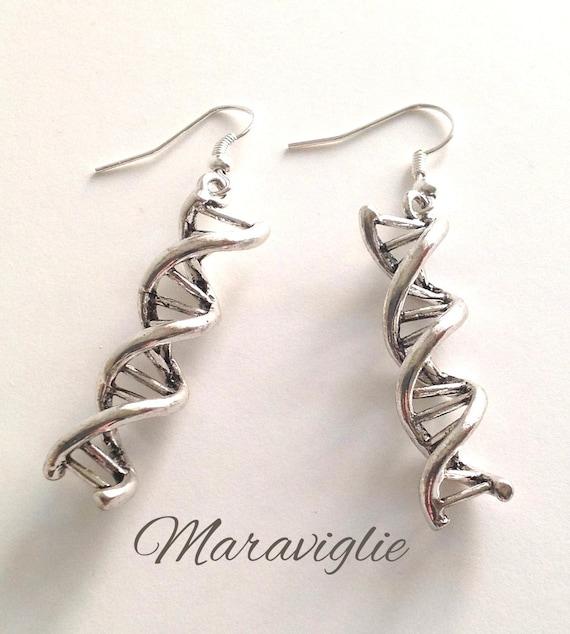 dna earrings helix earrings science jewelry