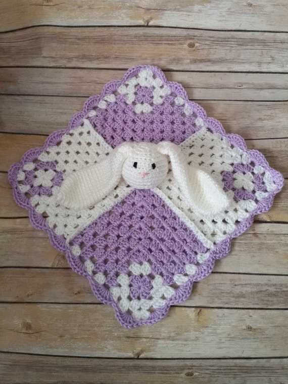 Baby Lovey Baby Security Blanket Bunny Lovey Crochet Baby