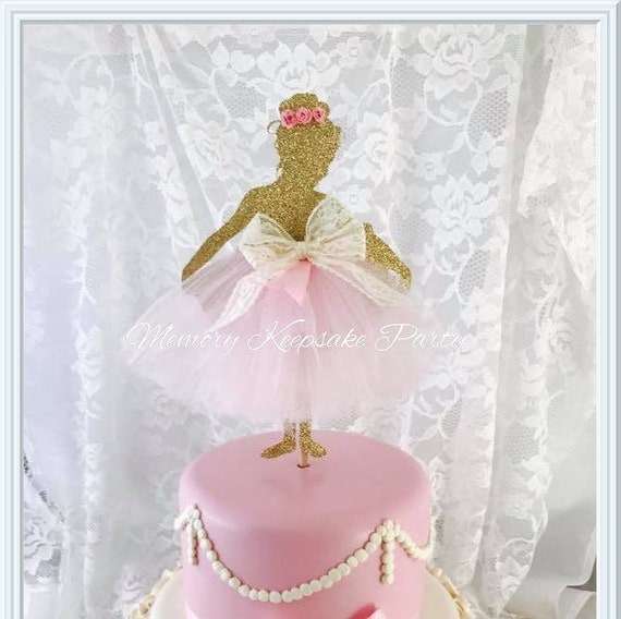 Ballerina cake topper ballerina party decorations for Ballerina party decoration