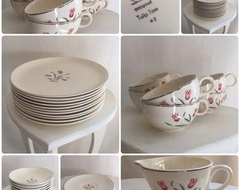 Salem China Tulip Time Dish Set
