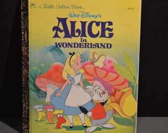 1991 Walt Disney's Alice in Wonderland Little Golden Book