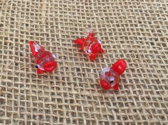 1 koi fish lampwork glass charms koi earrings japanese for Koi fish beads
