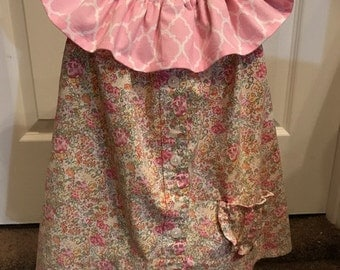 18 mos  2T; Peasant style Dress/Top with contrasting Ruffled Collar