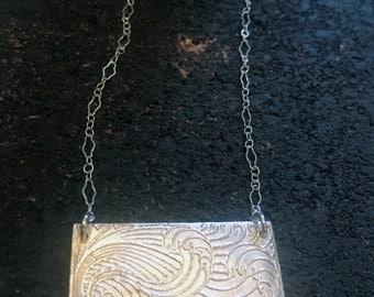 Silver Wave Necklace Ocean necklace Art Deco Necklace Uno de 50 Silver Wave necklace, Ocean wave necklace Silver Ocean Necklace