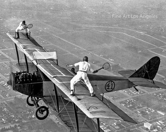 Photo of Tennis Players in Flight, 1925
