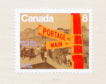 10 x Canada Mint Vintage Postage Stamps Winnipeg 1974 Unused Canadian Wedding Calligraphy Envelopes Pen Pal Letters Philately Uncancelled