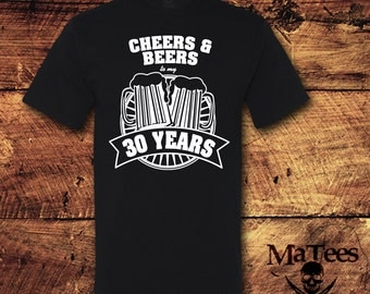 Cheers And Beers To 30 Years Etsy