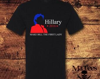 Hillary Clinton Shirt, Hillary shirt, Hillary 2016 Shirt, Hillary for America, Hillary 2016, Democratic Nomination, T-Shirt; Shirt; Tee