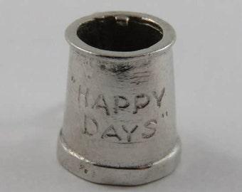Happy Days Mug Sterling Silver Vintage Charm For Bracelet