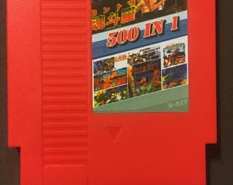 SALE! Super Games 500 in 1 Multi-Cart Nintendo NES Game Cartridge. 8 bit