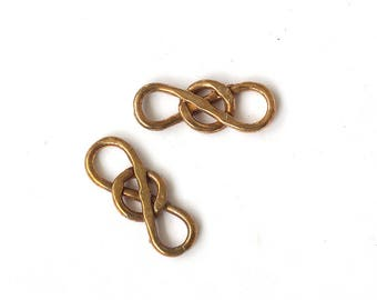 10 PCS Infinity Connector Infinity Charm Bronze Brass Copper Silver Chain Element Unique Beads Craft Supplies Jewelry Findings DIY Findings