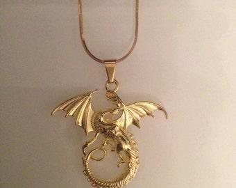 Gold Dragon Pendant