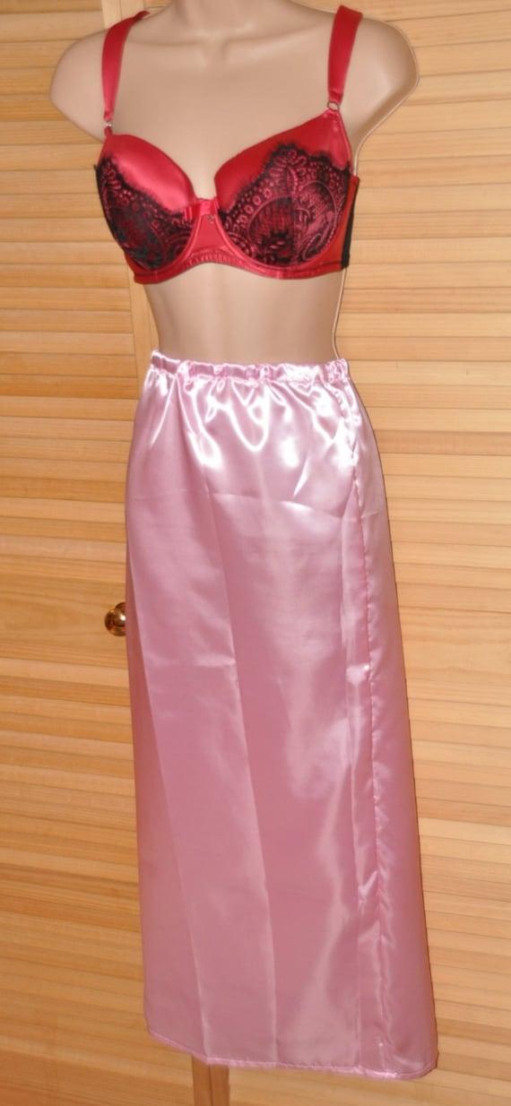 """SLIP 22X - Long 36"""" length silky satin slip / petticoat,  Sissy Lingerie"""