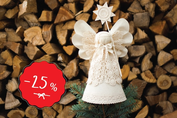 Christmas Angel Tree Topper White Christmas Ornaments By