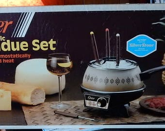 Fondue Set New in Box Authentic 70's Never Used