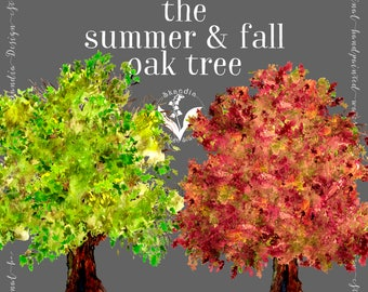 woodland clipart, fall clipart, handpainted clipart, rustic boho clipart,Fall trees clipart,Fall leaves clipart, tree clipart,Autumn clipart