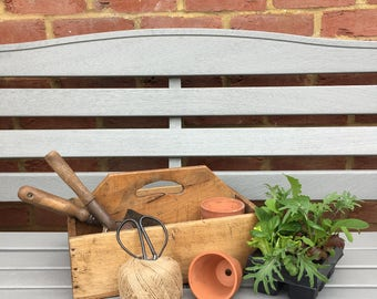 Vintage Garden Trug, Wooden Trug, Garden Tool Basket, Rustic, Gardener's Gift, Fruit/Flower Basket