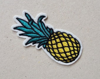 Pineapple patch, iron on patch, jacket patch, sew on patch, applique design, denim patches, clothing applique, sewing patch, kids patches
