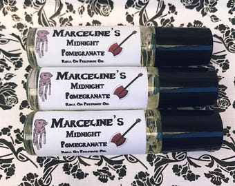 Adventure Time Inspired Marceline's Midnight Pomegranate Roll on Perfume Oil