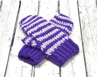 Mittens crochet mittens for adult, gloves, wool, scratches, woman, winter gloves mittens mittens, purple mittens