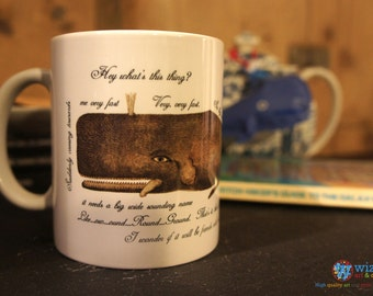 Hitchhiker's Guide to the Galaxy Whale Mug - The Whale & The Petunias