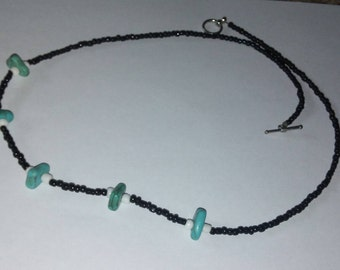 classic black, white and turquoise necklace
