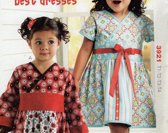 Kwik Sew 3921 Free Us Ship  Toddler Girls Kelsey's Best Dress  Size 1 2 3 4 2011 Out of Print New Sewing Pattern Brand New ff