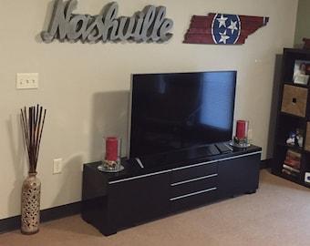 Nashville Metal Sign. Metal Nashville Sign. rustic nashville sign. popular nashville sign. lighted nashville sign. Nashville signs